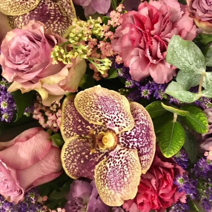 Flowers from the flower shops inside of Harrods